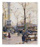 Place De La Bastille Paris Fleece Blanket
