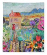 Place In The Country, 2014, Acrylicpaper Collage Fleece Blanket