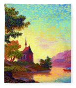 Beautiful Church, Place Of Welcome Fleece Blanket