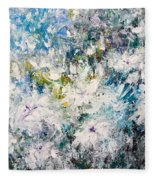 Place Where The Flowers Bloom Forever Fleece Blanket