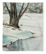 Placid Winter Morning Fleece Blanket