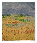 Plain At Auvers Fleece Blanket