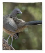 Plain Chachalaca Fleece Blanket