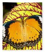 Plain Tiger Butterfly Fleece Blanket