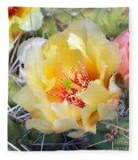 Plains Prickly Pear Flower Fleece Blanket