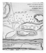 Plan Of The Battle Of Saratoga October 1777 Fleece Blanket
