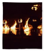 Plane Ablaze Fleece Blanket