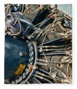 Plane Engine Close Up Fleece Blanket