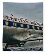 Plane Fly Eastern Air Lines Fleece Blanket