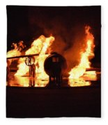 Plane Heats Up Fleece Blanket