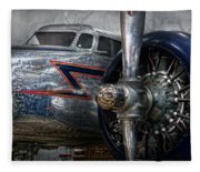 Plane - Hey Fly Boy  Fleece Blanket