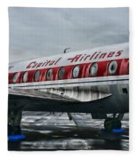 Plane Obsolete Capital Airlines Fleece Blanket