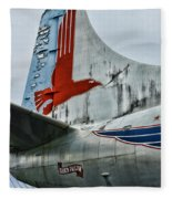 Plane Tail Wing Eastern Air Lines Fleece Blanket