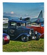 Planes And Cars Fleece Blanket