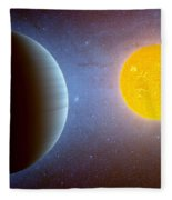 Planet Kepler10 Stellar Family Portrait Fleece Blanket