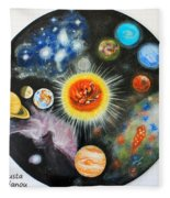 Planets And Nebulae In A Day Fleece Blanket