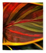 Plant Leaf Fleece Blanket