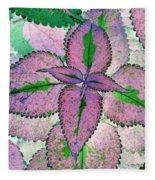Plant Pattern - Photopower 1212 Fleece Blanket