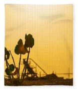 Plant Silhouette Fleece Blanket