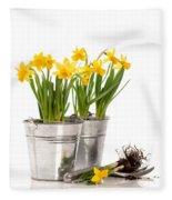 Planting Bulbs Fleece Blanket by Amanda Elwell