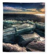 Plate Ice Brighton Beach Duluth Fleece Blanket