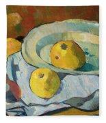 Plate Of Apples Fleece Blanket