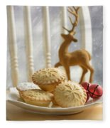 Plate Of Mince Pies Fleece Blanket