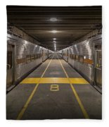 Platform Eight At Union Station Fleece Blanket