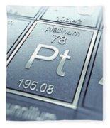 Platinum Chemical Element Fleece Blanket