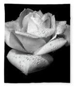 Platinum Rose Flower Fleece Blanket