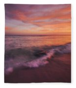 Playa De Fuego  Fleece Blanket