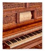 Piano Keys In The Key Of Life Fleece Blanket