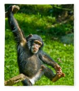 Playful Chimp Fleece Blanket