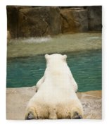 Playful Polar Bear Fleece Blanket