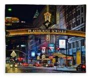 Playhouse Square Fleece Blanket