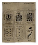 Playing Cards Patent Fleece Blanket