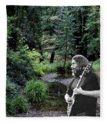 Playing For The Creek 3 Fleece Blanket