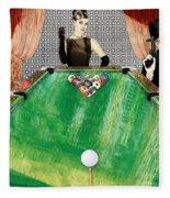 Playing Pool My Way Fleece Blanket