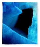 Playing With The Snow And Ice Kappl Mountain Austria  Fleece Blanket