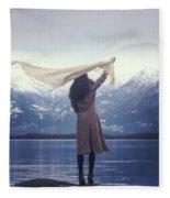 Playing With Wind Fleece Blanket
