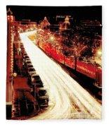 Plaza Christmas - Kansas City Fleece Blanket