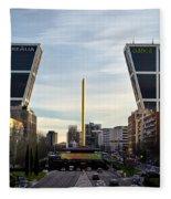 Plaza De Castilla Fleece Blanket