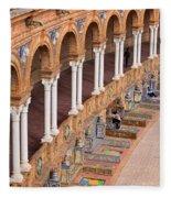 Plaza De Espana Colonnade In Seville Fleece Blanket