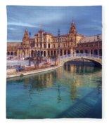 Plaza De Espana Seville II Fleece Blanket