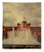 Plaza De Espana. Seville Fleece Blanket