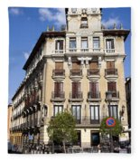Plaza De Ramales Tenement House Fleece Blanket
