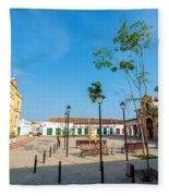 Plaza In Mompox Fleece Blanket