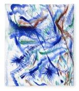 Plume Bleues Fleece Blanket