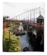 Pleasure Beach Roller Coaster Fleece Blanket