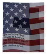 Pledge Of Allegiance Fleece Blanket